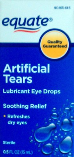Equate: Sterile Artificial Tears Lubricant Eye Drops, .5 fl