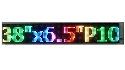 "E-board Scrolling Message Sign Led Sign Window Sign Indoor Sign 38""x 6.5"" 16x96 Pixels Pitch 10mm Full Color RGB Pc Software Programmable Easy to Use"