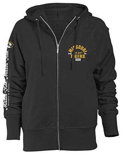 cd983c5ce649e Camp David NCAA Missouri Tigers Slouch Fit Full Zip Hood, Black, X-Large