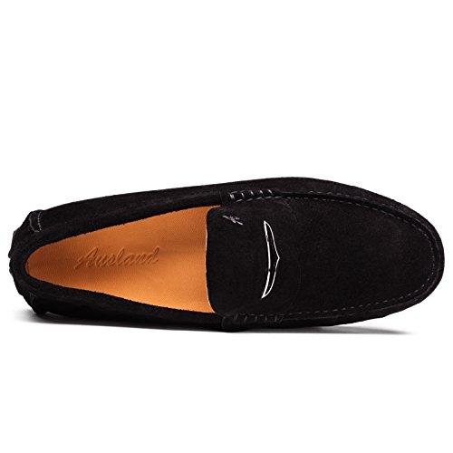 scarpe Mocassini Shenduo Scarpe comode pelle Nero di Bucciata Uomo D1181 loafers casual Uomo RnzErxTwdR