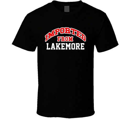 Lakemore Ohio Imported From Cool Funny City T Shirt M Black
