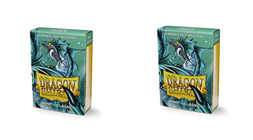 2 Packs Dragon Shield Classic Mini Japanese Mint 60 ct Card Sleeves Value Bundle!