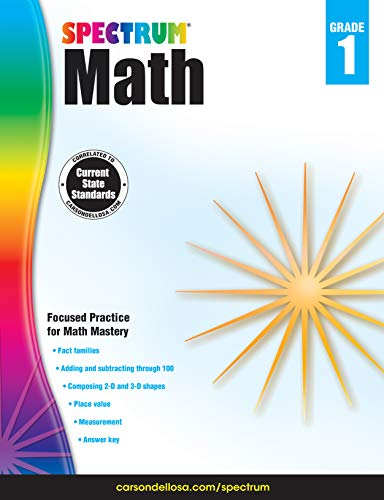 Spectrum Paperback Math Book, Grade 1, Ages