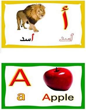تعليم الحروف العربيه و الانجليزيه بطاقات الفلاش للاطفال Amazon Ae