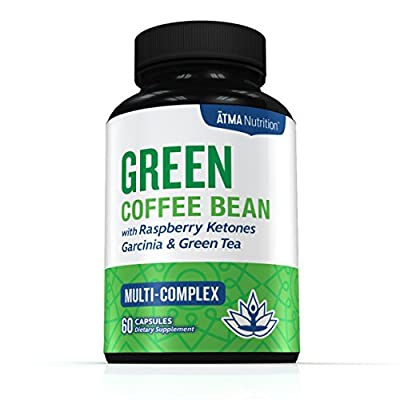 Premium Pure Blend - Green Coffee Bean Extract, Raspberry Ketones Complex, Garcinia Cambogia, & Green Tea - Highest Grade, Physician Recommended - 4 Top Weight Loss Ingredients in One Supplement