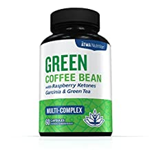 Premium Pure Blend - Green Coffee Bean Extract, Raspberry Ketones Complex, Garcinia Cambogia, & Green Tea - Highest Grade, Physician Recommended – 4 Top Weight Loss Ingredients in One Supplement