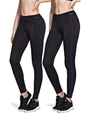 TSLA Women's Thermal Wintergear Compression Baselayer Pants Leggings Tights