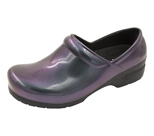 Care Women's Iridescent Service Anywear black Srangel Shoe Health Food Purple and 7FwH6W