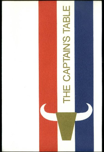 American Airlines The Captain S Table In Flight Menu 1969 At