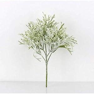 MARJON FlowersArtificial Flowers 2 Branch Fake Flower Fake Plants Decora Classic Stage Props Oriental Plants Christmas Tree Tabletop Flower,Green 1