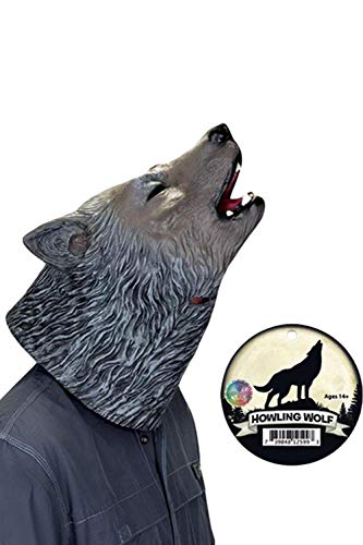 Halloween Latex Animal Masks 3D Howl Wolf Latex Mask Cosplay Accessories ()
