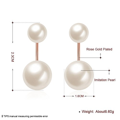 White Pearl Wedding Earring Valentine's Day Gift Party Wear 18ct Gold Plated