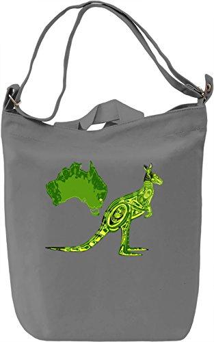 Kangaroo Borsa Giornaliera Canvas Canvas Day Bag| 100% Premium Cotton Canvas| DTG Printing|