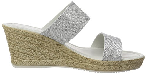27207 Marco Argent Tozzi Silver Femme Mules f540xq5w
