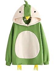 RUNYN Hoodie dames sweatshirt met capuchon Japanse stijl Kawaii karikatuur capuchon meisjes herfst en winter pullover voor feest reizen dagelijks