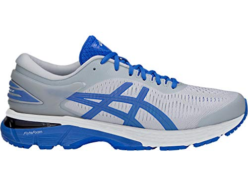 ASICS Men's Gel-Kayano 25 Lite-Show Running Shoes, 11.5M, MID Grey/Illusion Blue