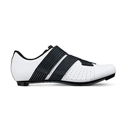 Fizik Tempo R5 Powerstrap Cycling Shoe, White/Black - 43.5, White/Black