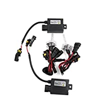 uxcell® Universal 6000K 55W DC 12V 9006 HID Conversion Kit Xenon Headlight Lamp for Cars