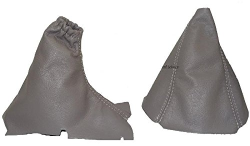 - The Tuning-Shop Ltd For Volvo S60 2000-07 Gear & Handbrake Gaiter Grey Leather