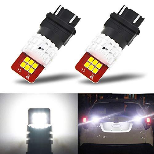 AUXITO 3156 3157 LED Super Bright 3157K 3057 4057 4157 Light Bulbs for Backup Reverse Light, Tail Light, Turn Signal Light Xenon White (Pack of 2)