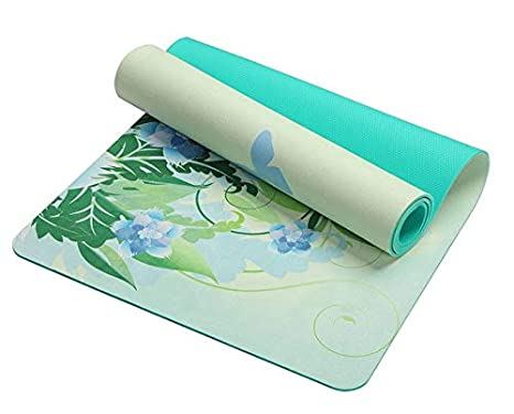 Amazon.com: 5mm Lotus Pattern Suede TPE Yoga Mat Pad Non ...