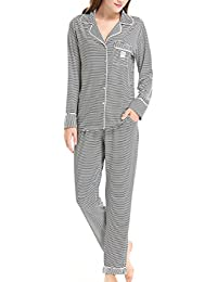 Women's Sleepwear Long Sleeves Pajama Set With Pants by (XS-XL)