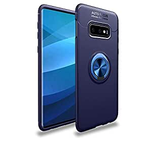 Samsung Galaxy S10e - Finger Ring Kickstand TPU Phone Case cover (Built-in Magnetic Metal Sheet) -Blue