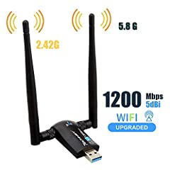 New experience of enjoying 5.8 GHz+2.4 GHz dual band with OFDM wireless technology,it presents less interference while works at 5.8 GHz frequency,and provids better transmission with its 433Mbps data rate,the unique design brings easy and fre...