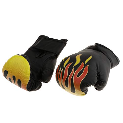 Toygogo 1 Pair Kids PU Leather Bent Boxing Gloves for Pouching Muay Thai Training