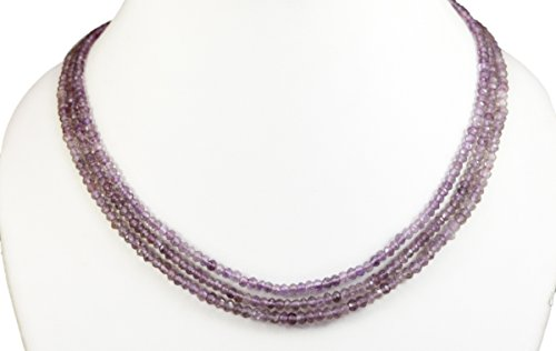 2/3/4/5 Multi Strings Pink Amethyst Quartz 5mm Size Faceted Beads Strings Necklace Gemstone (Pink- 3 ()