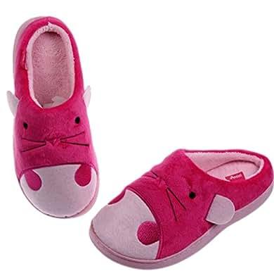 toddler animal plush cute slipper house shoes bedroom slippers