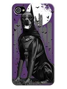 A handsome hound with purple background for iphone 4 on-online(purple)