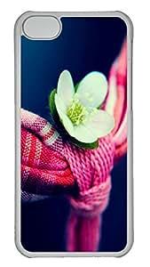 iPhone 5C Case Flowers And Towel PC iPhone 5C Case Cover Transparent