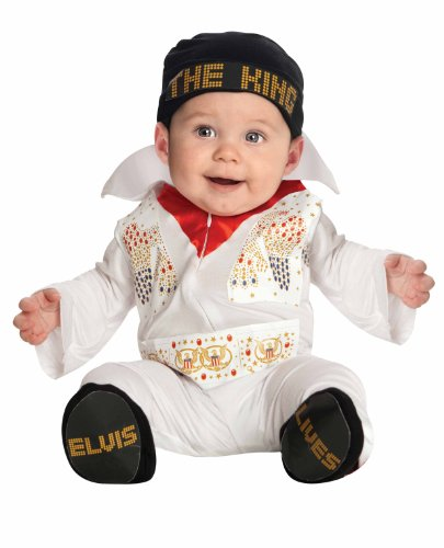 Elvis Onesie Costume, White, 6-12 Months (Elvis Costume For Kids)