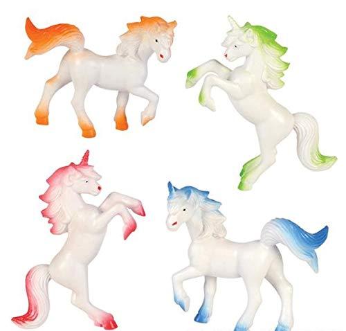 """Rhode Island Novelty 3"""" Vinyl Unicorns   One Dozen"""