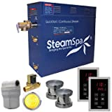 Steam Spa RYT1050BN-A Royal 10.5 KW Quick Start Acu-Steam Bath Generator Package with Built-In Auto Drain, Brushed Nickel