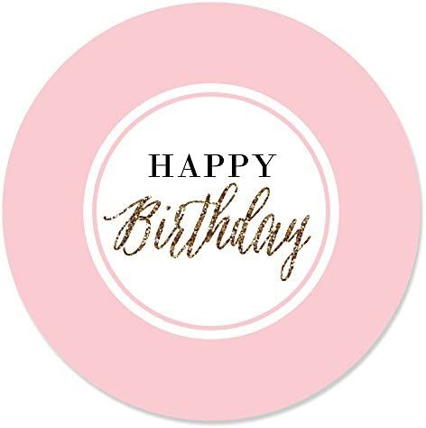 Pink and Gold Polka 36 Pink and Gold Birthday Stickers 1st Birthday Stickers