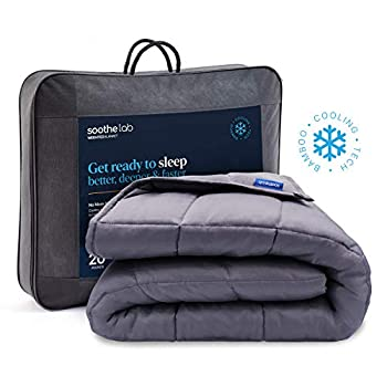 Image of Soothe Lab Cooling Weighted Blanket | 100% Bamboo Viscose | 20 lbs for 170-240 lbs Individual, 60'x 80', Queen Size | Bamboo Weighted Blanket Adult Soothe Lab B07T2Y17X4 Weighted Blankets