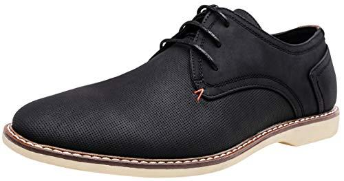 JOUSEN Men's Oxford Classic Plain Toe Casual Derby Dress Shoes (11,Black-d) (Best Mens Derby Shoes)
