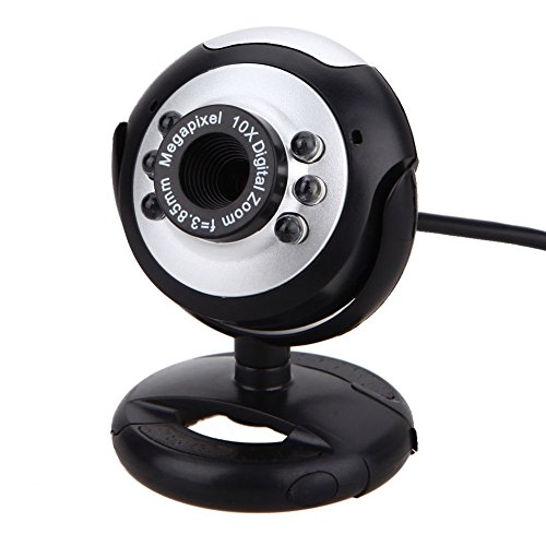 TraderPlus USB 6 LED 12.0 Megapixel HD 720P PC Webcam Web Camera with Microphone, Clip on Style for Desktop Laptop Network Skype by TRADERPLUS (Image #2)