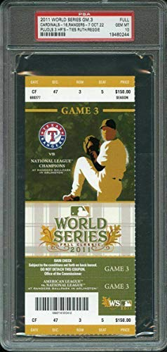 2011 world series game 3 full ticket ALBERT PUJOLS (3) HOME RUN GAME 10 - PSA/DNA Certified - Other Game Used MLB Items (Albert Pujols 3 Home Runs World Series)