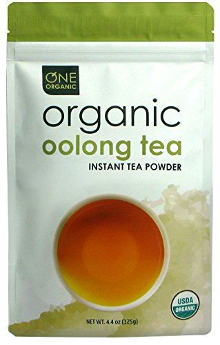 ONE ORGANIC Instant Tea Powder (Oolong) - 4.4 oz. - 125 Servings - USDA Certified Organic - 100% Pure Tea - Instant Hot or Iced Tea - Unsweetened - No Fillers or Preservatives