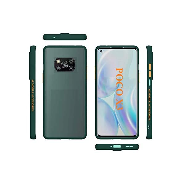 Aarnik Back Cover for Poco X3 Smoke Case Transparent Shockproof Protective Clear Bumper Smoke Cover for Poco X3 - Smoke… 2021 July ➤ Perfectly fits on POCO X3.✔ ➤ Design: New Color Button Design and this stand-alone button is detachable.✔ ➤ Slim transparent TPU bumper with Active Touch Technology allows easy and natural access to all vital ports and buttons. Soft flexible premium edges cover guards and tapered lips to lift off flat surfaces for raised bezel protection against daily use scratches.✔