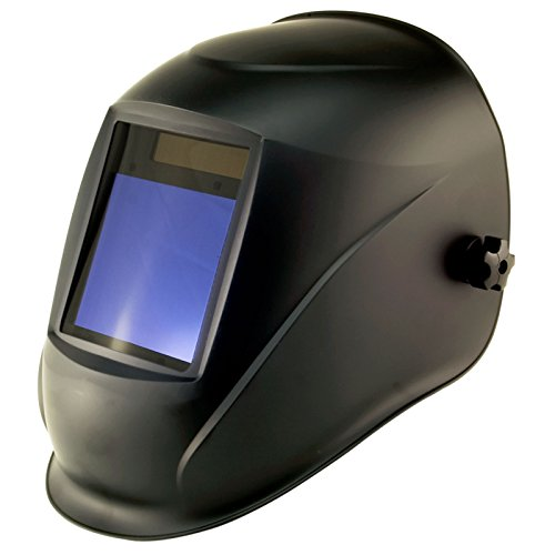 True-Fusion Big-1 Shadow IQ2000 Solar Powered Auto Darkening Welding Helmet Hood Grind mask with Massive View Area (98mm x 87mm - 3.85x3.45 inches) FREE Storage Bag, Spare Lenses and Spare Sweatband included by True-Fusion