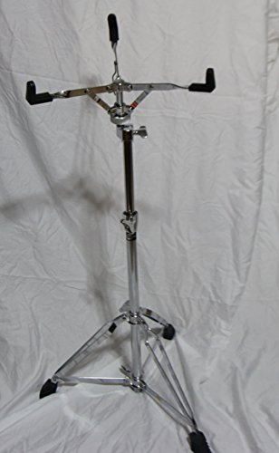 Extended Height Snare Drum Stand by Griffin | Tall Adjustable Height Snare Stand | Concert Stand Up Drum Mount Holder With Basket Clamp | Double Braced Percussion Chrome Drum (Height Snare)