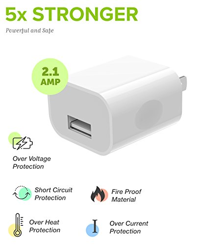 Boxgear Apple Charger for iPhone X, 8, 8 Plus, 7, 7 Plus, 6s, 6s Plus, 6, 6 Plus, SE, 5s, 5c, 5, iPad mini, iPad Air, iPad Pro, iPod Cable Kit by Boxgear - (Wall Charger + Car Charger + 2 Cable) by Boxgear (Image #6)
