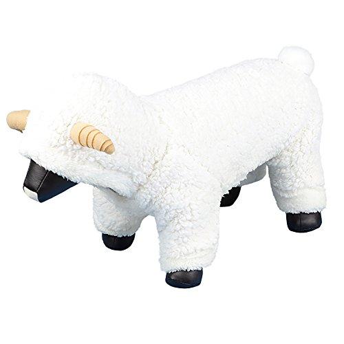 OOEOO Dog Clothes, Pet Winter Clothes,Dog Cat Cute Sheep Coat Apparel(White,L)