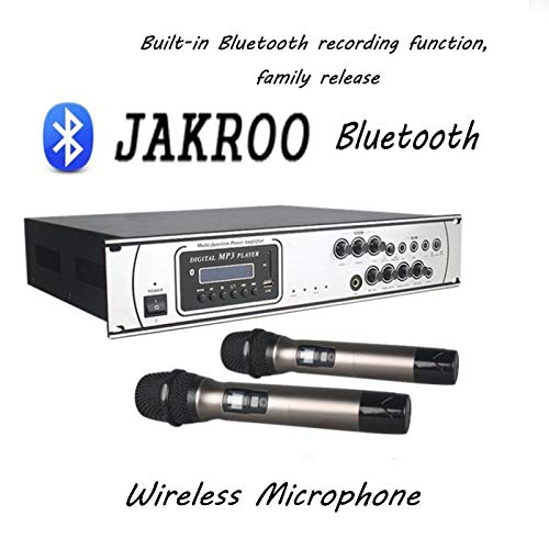 Processing Equalizer Digital (JAKROO Digital Wireless Karaoke Bluetooth Microphone Player Equalizer with LCD Display, Professional Concert Set for Family, Church, PC, Amplifier,B)