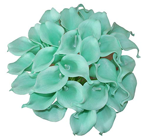 En Ge 10 Heads Mini Calla Lily Bridal Wedding Bouquet Real Touch Flower Bouquets - Calla Green Spray Lily