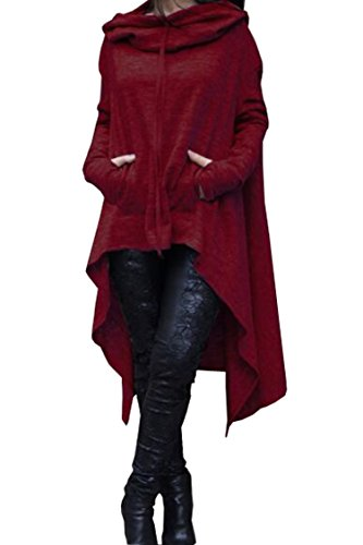 cowl neck asymmetrical jacket - 8
